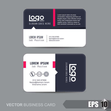Photo pour business card template,Vector illustration - image libre de droit