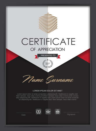 Illustration for certificate template with clean and modern pattern,Vector illustration - Royalty Free Image