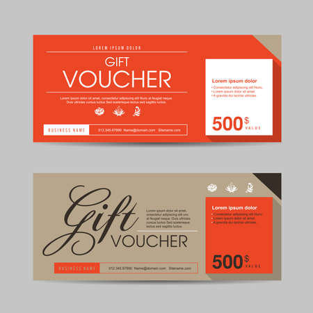 Ilustración de Gift voucher template with colorful pattern,Vector illustration - Imagen libre de derechos