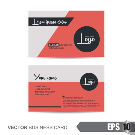 Illustration pour business card template,Vector illustration - image libre de droit