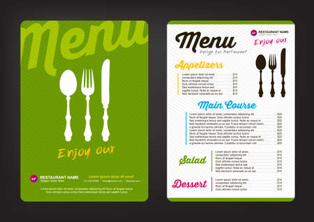 Ilustración de menu design template with colorful pattern,Restaurant cafe menu, template design, Food flyer - Imagen libre de derechos