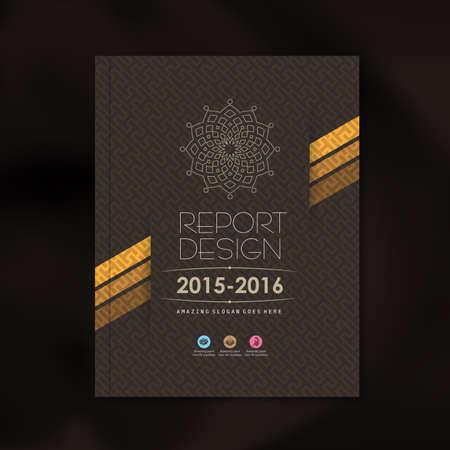 Ilustración de Modern Vector design template with luxury pattern background design for corporate business annual report book cover brochure flyer poster,vector illustration - Imagen libre de derechos