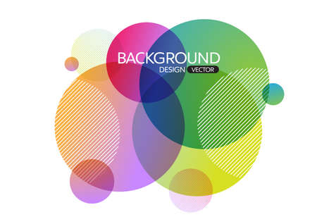 Photo pour Abstract geometric round circle shapes background for design,vector background - image libre de droit