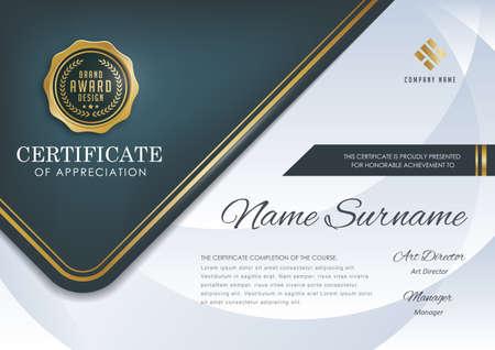 Ilustración de certificate template with luxury pattern,diploma,Vector illustration. - Imagen libre de derechos