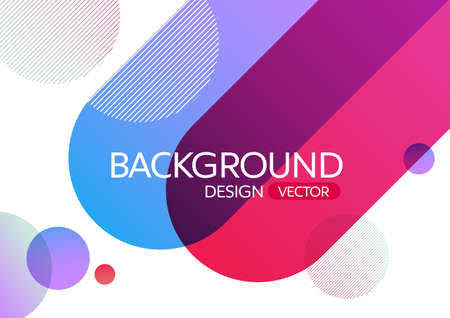 Photo pour Abstract geometric round circle shapes gradient color background for design,vector background - image libre de droit