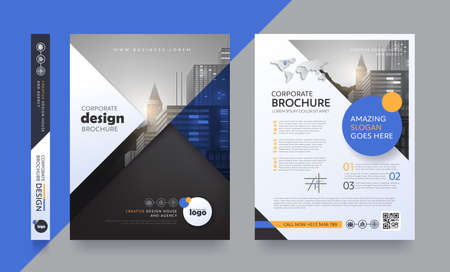Illustration pour Poster flyer pamphlet brochure cover design layout space for photo background, vector template. - image libre de droit