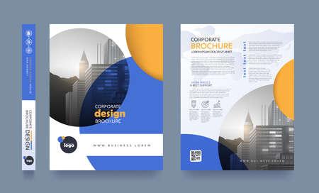 Ilustración de Poster pamphlet brochure cover design layout space for photo background, vector template. - Imagen libre de derechos