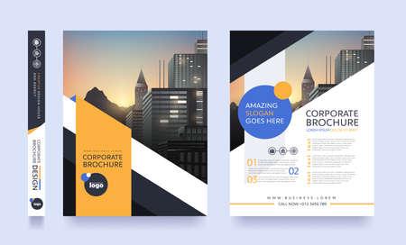 Ilustración de Poster flyer pamphlet brochure cover design layout space for photo background, vector template in A4 size - Imagen libre de derechos