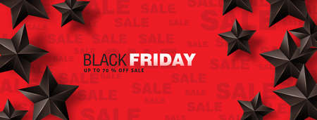 Ilustración de Black friday sale banner layout design template. Vector illustration - Imagen libre de derechos