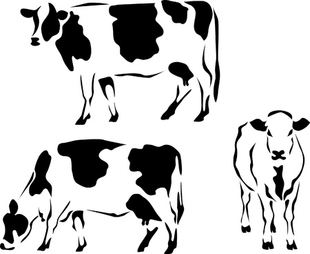 logo style dairy cow