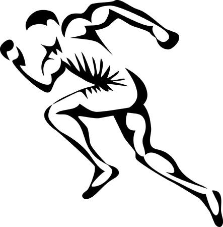 Ilustración de sprinter - Imagen libre de derechos