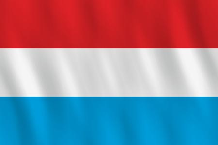 Ilustración de Luxembourg flag with waving effect, official proportion. - Imagen libre de derechos