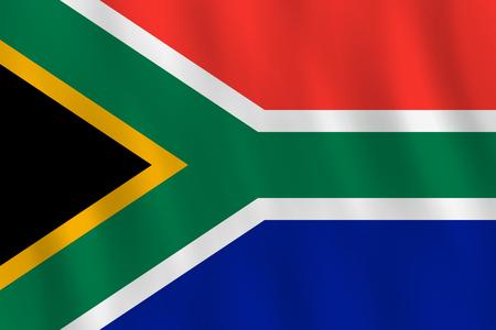 Ilustración de South Africa flag with waving effect, official proportion. - Imagen libre de derechos