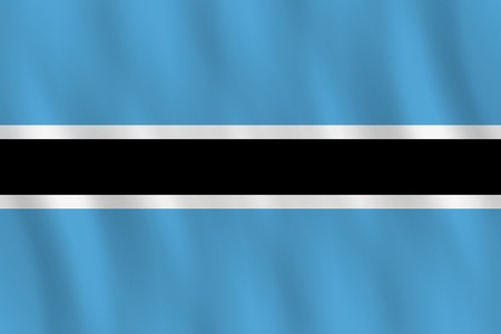 Ilustración de Botswana flag with waving effect, official proportion. - Imagen libre de derechos