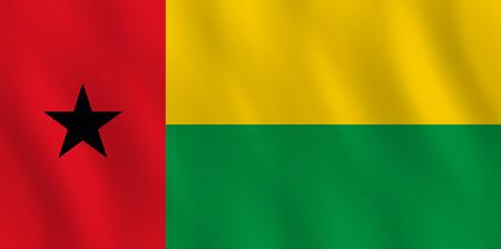 Ilustración de Guinea-Bissau flag with waving effect, official proportion. - Imagen libre de derechos