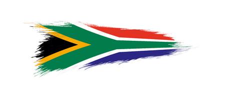 Illustration pour Flag of South Africa in grunge brush stroke, vector grunge illustration. - image libre de droit