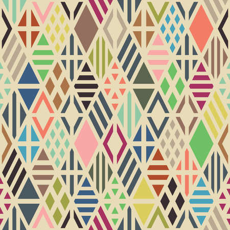 Photo for Rhombuses seamless pattern. Geometric background. - Royalty Free Image