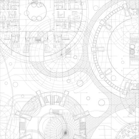 Ilustración de Architectural blueprint. Vector drawing background. - Imagen libre de derechos