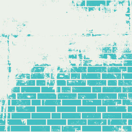 Illustration pour Plastered brick wall. Vector grunge background - image libre de droit