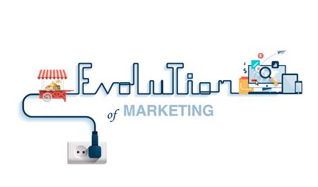 Illustration pour illustration of the evolution of marketing. - image libre de droit