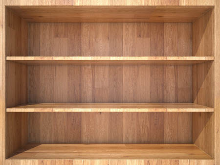 Photo for Empty wooden Shelf - Royalty Free Image