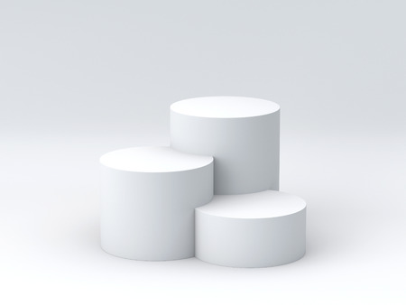 Foto de Empty podium on white background. 3D rendering. - Imagen libre de derechos