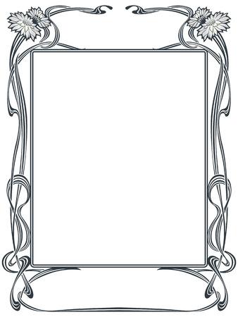 Ilustración de Vector abstract framework from the bound plants and flowers for decoration and design - Imagen libre de derechos