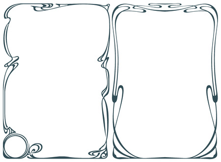 Ilustración de Vector abstract framework from the bound flowers and plants for decoration and design - Imagen libre de derechos
