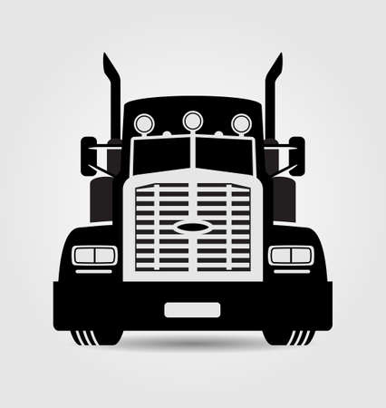 Illustration pour Generic semi-trailer truck - image libre de droit