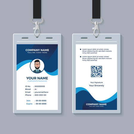 Illustration pour Modern Clean ID Card Template - image libre de droit