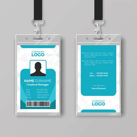 Illustration pour Corporate ID card design template - image libre de droit