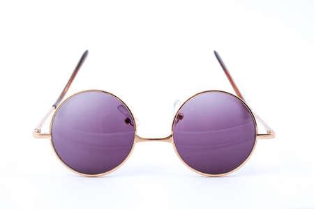Photo pour Classic round sunglasses isolated on white background - image libre de droit