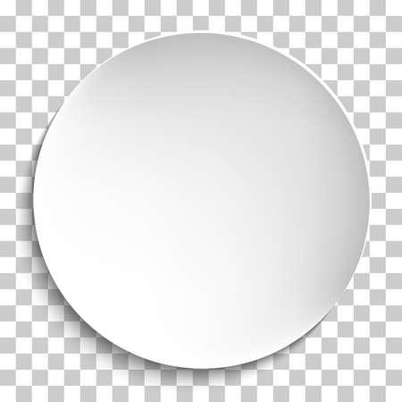 Illustration pour Empty white paper plate. Vector round plate Illustration on transparent background. Plate background for your design. - image libre de droit