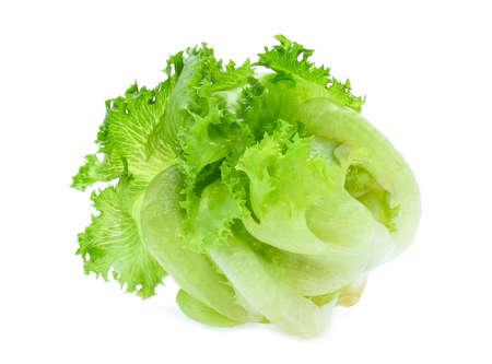 Photo for green frillice iceberg lettuce isolated on white background - Royalty Free Image