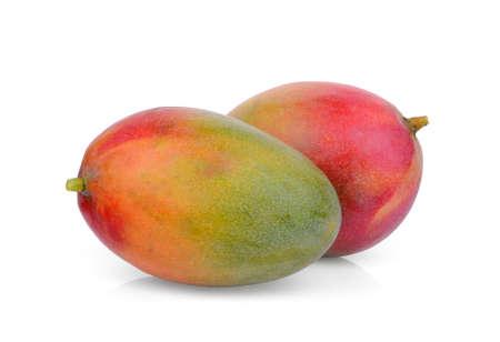 Photo pour two ripe mango isolated on white background - image libre de droit