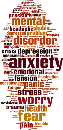 Illustrazione per Anxiety word cloud concept. - Immagini Royalty Free