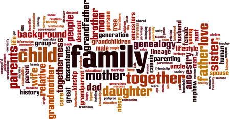Illustration for Family word cloud concept. Vector illustration - Royalty Free Image