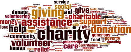 Illustration for Charity word cloud concept. Vector illustration - Royalty Free Image
