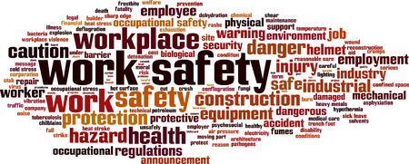Photo pour Work safety word cloud concept. Vector illustration - image libre de droit