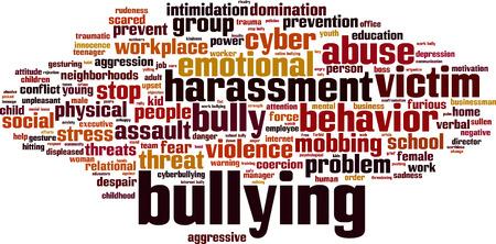 Illustrazione per Bullying word cloud concept. Vector illustration - Immagini Royalty Free