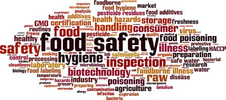 Ilustración de Food safety word cloud concept. Vector illustration - Imagen libre de derechos