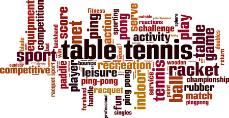 Table tennis word cloud concept. Vector illustration