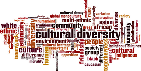 Illustration pour Cultural diversity word cloud concept. Vector illustration - image libre de droit