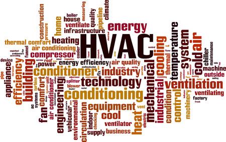 Illustration pour HVAC word cloud concept. Vector illustration - image libre de droit