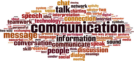 Foto per Communication word cloud concept. Vector illustration - Immagine Royalty Free