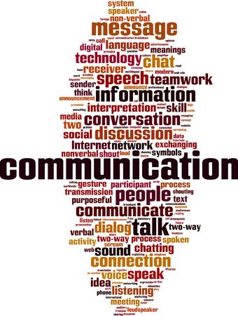 Photo pour Communication word cloud concept. Vector illustration - image libre de droit