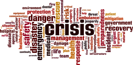 Illustration for Crisis word cloud concept. Vector illustration - Royalty Free Image