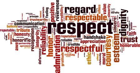 Ilustración de Respect word cloud concept illustration - Imagen libre de derechos