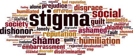 Illustration pour Stigma word cloud concept - image libre de droit