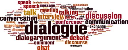 Illustration pour Dialogue word cloud concept. Vector illustration - image libre de droit